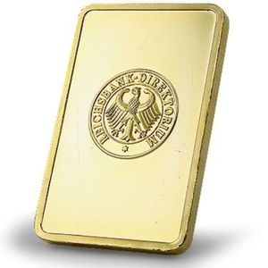 Jewelry - Collector 24K Gold Plated 1 Troy Ounce Bullion Bar